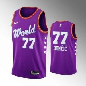 Mavericks Luka Doncic 2020 NBA World Team Jersey.j